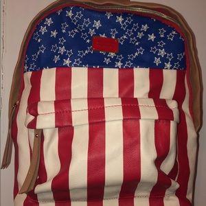 Betsy Johnson flag backpack